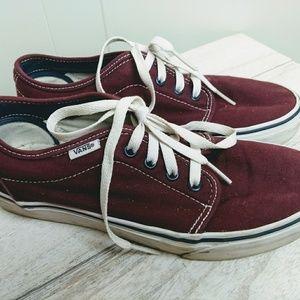 Vans classic sneakers old skool red burgundy